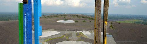Amphitheater und Totems auf der Halde Haniel, Bottrop